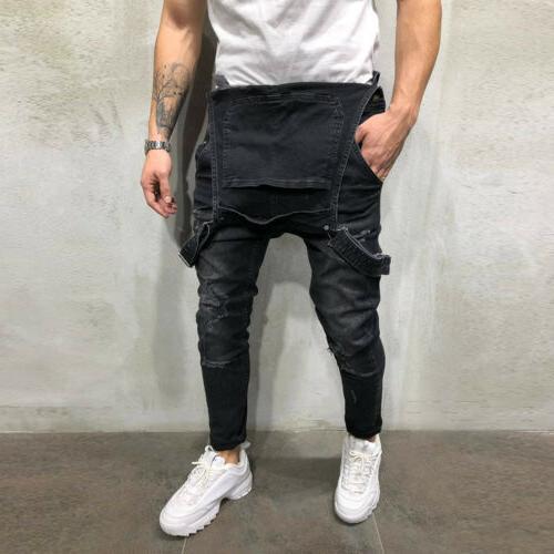 Men Denim Suspender Trousers