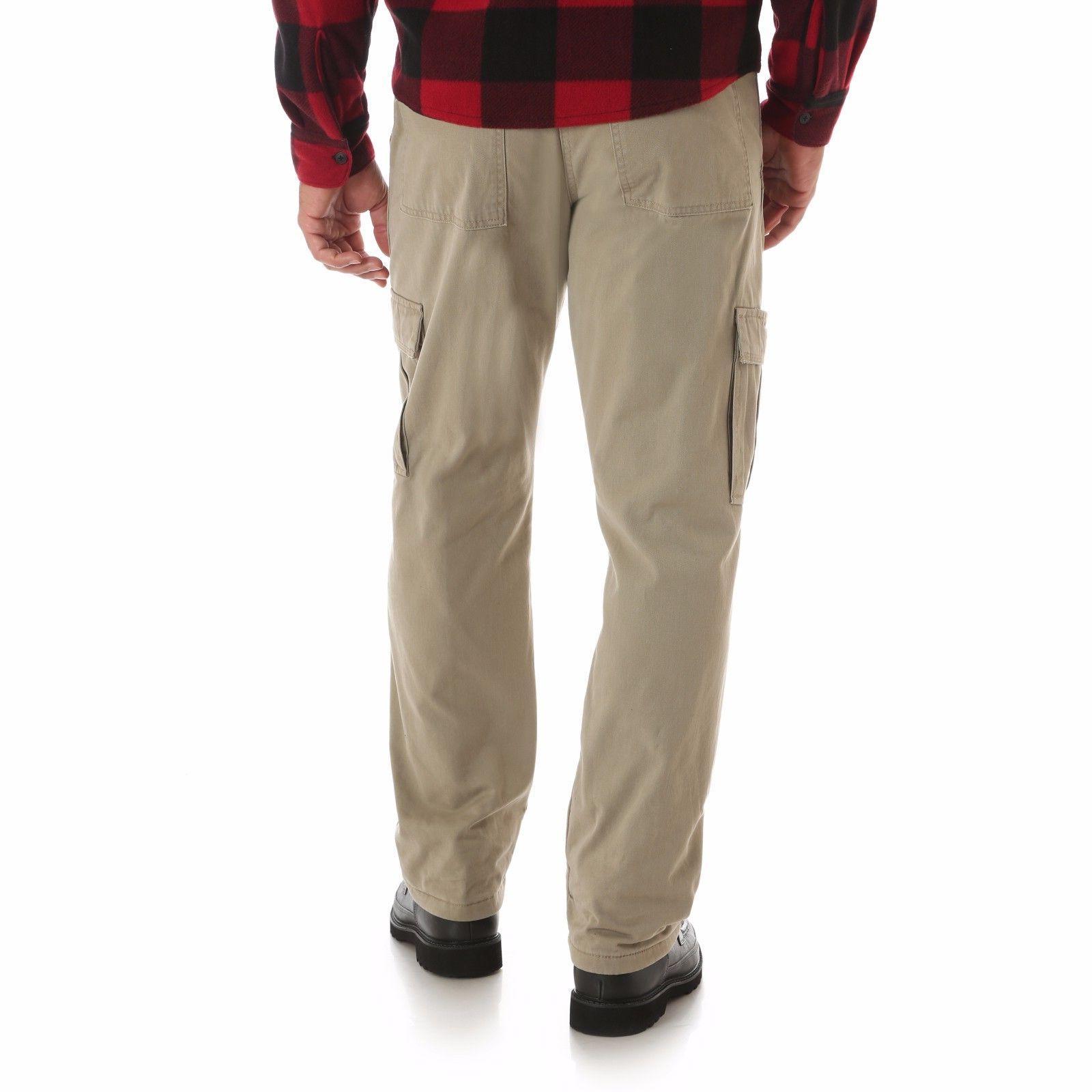 Wrangler Fleece Cargo Pants Relaxed Fit Work Mens