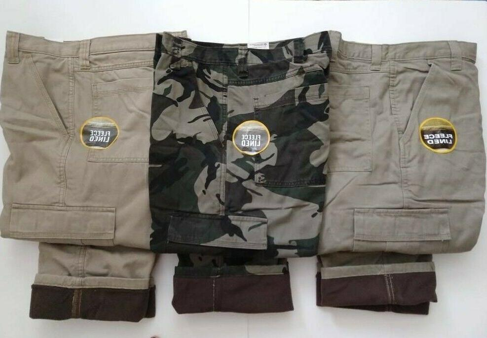 fleece lined cargo pants relaxed fit work
