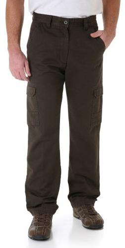 Genuine Wrangler Cargo Pants 33W x 32L Chocolate brown