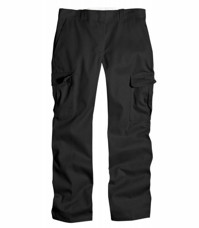 Genuine Men's Fit Front Black Cargo Pants 7113038BK