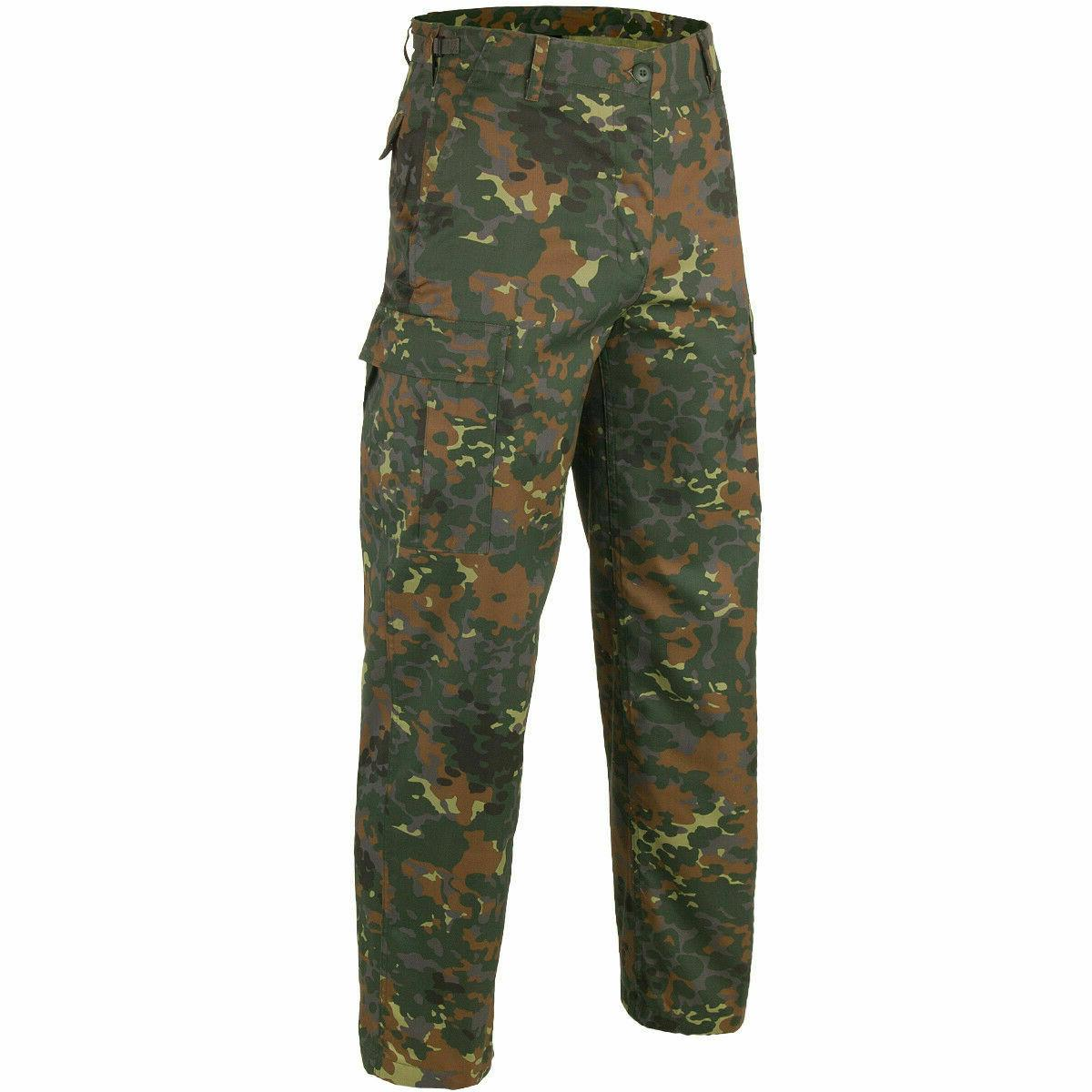 GERMAN CAMOUFLAGE PANTS MILITARY BDU POCKET