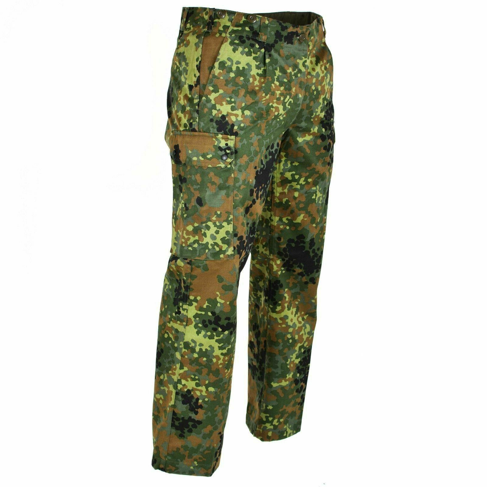 GERMAN FLECKTARN CAMOUFLAGE MILITARY POCKET TROUSERS