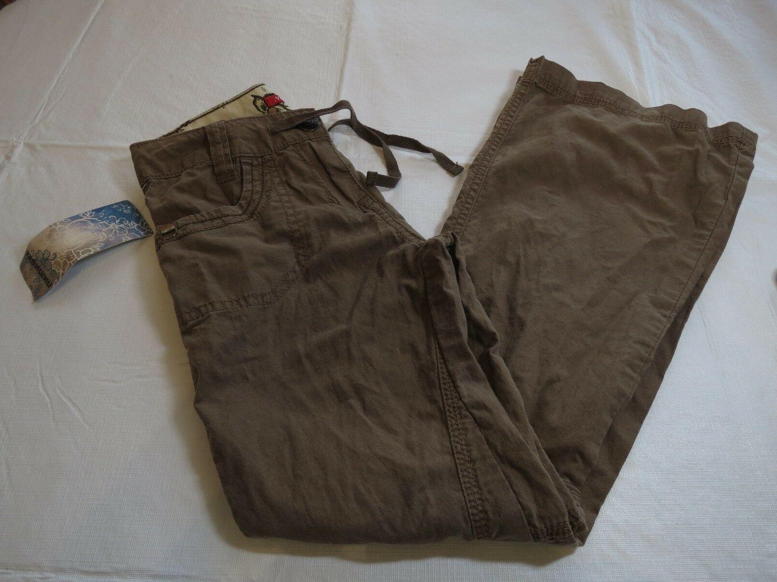 Girls Unionbay 8R REG lightweight cargo pants NWT bark brown