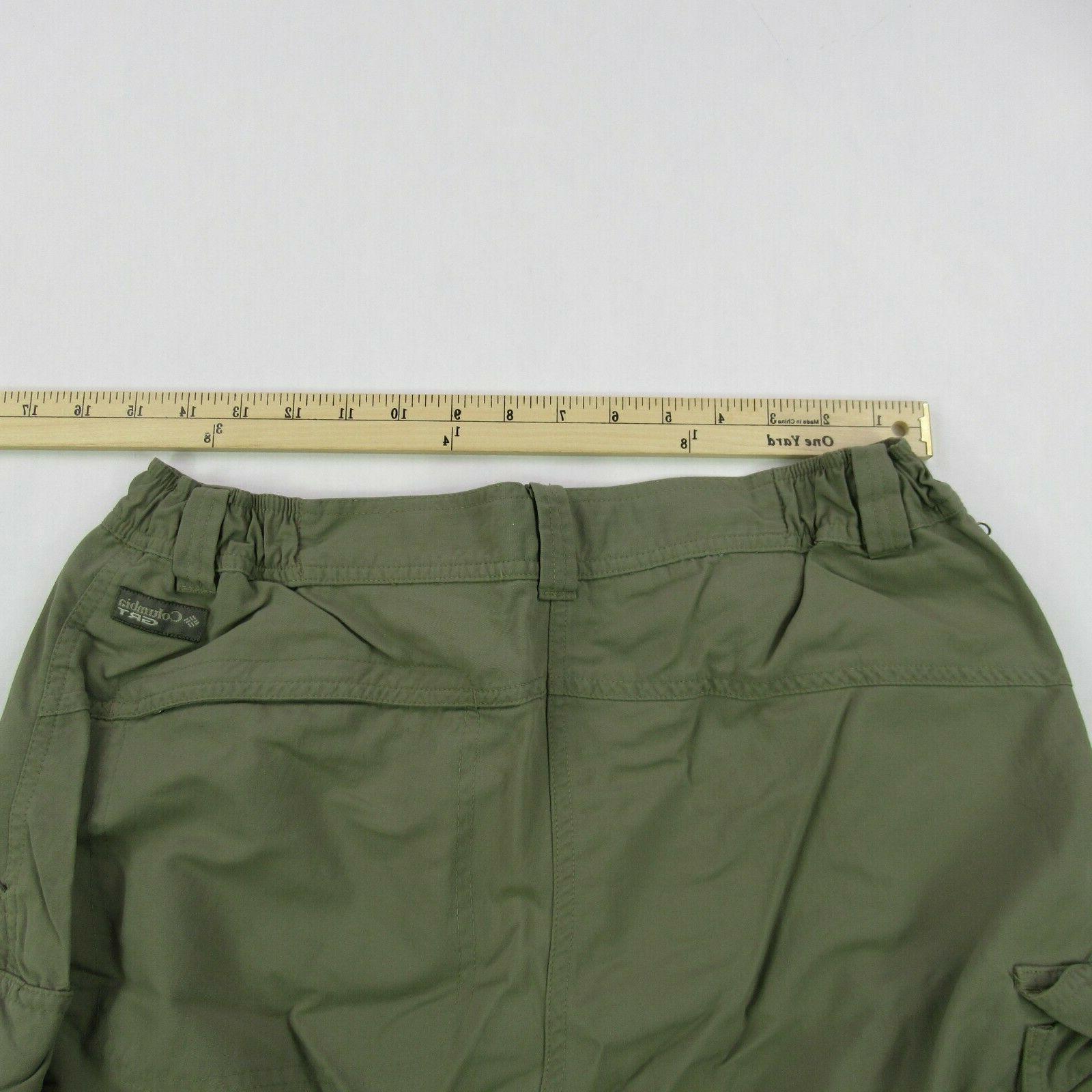 Columbia GRT Medium Green Cargo Pants Convertible