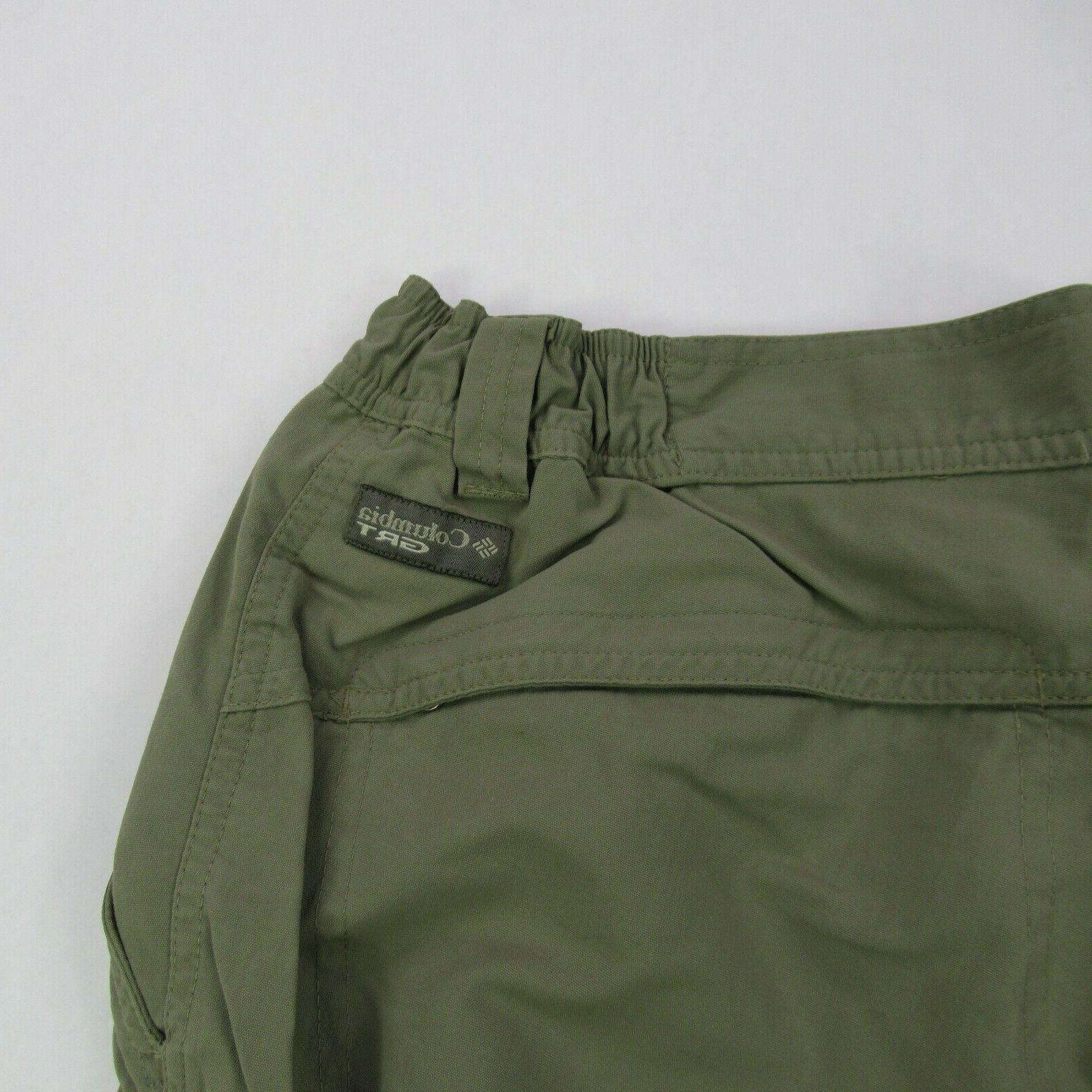 Columbia GRT Medium Green Cotton Pants Convertible