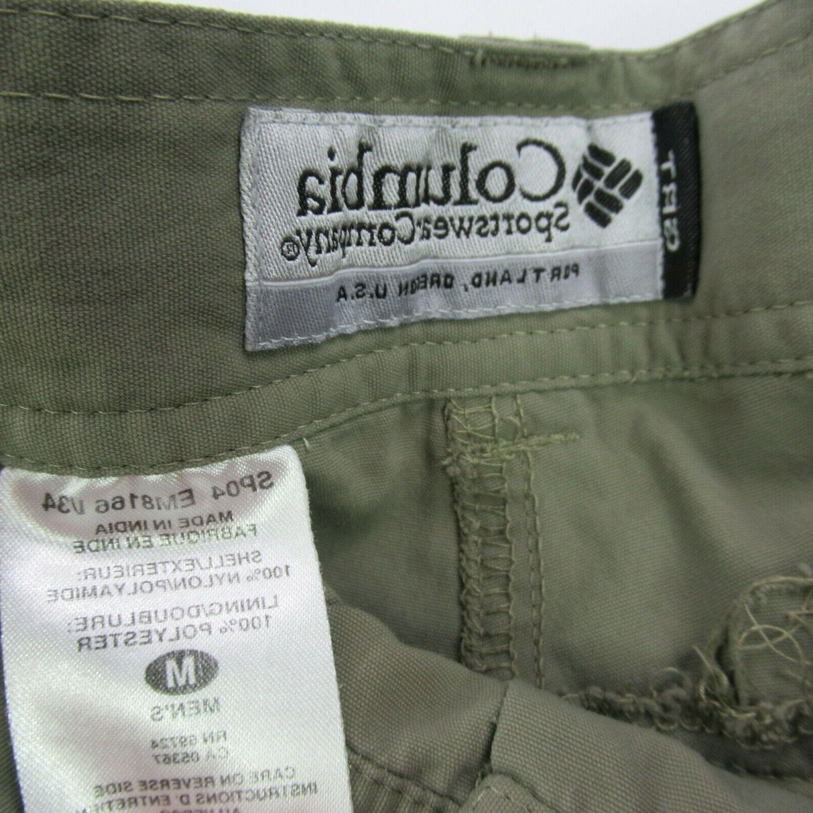 Columbia GRT Medium Green Cotton Cargo Pants Shorts 34