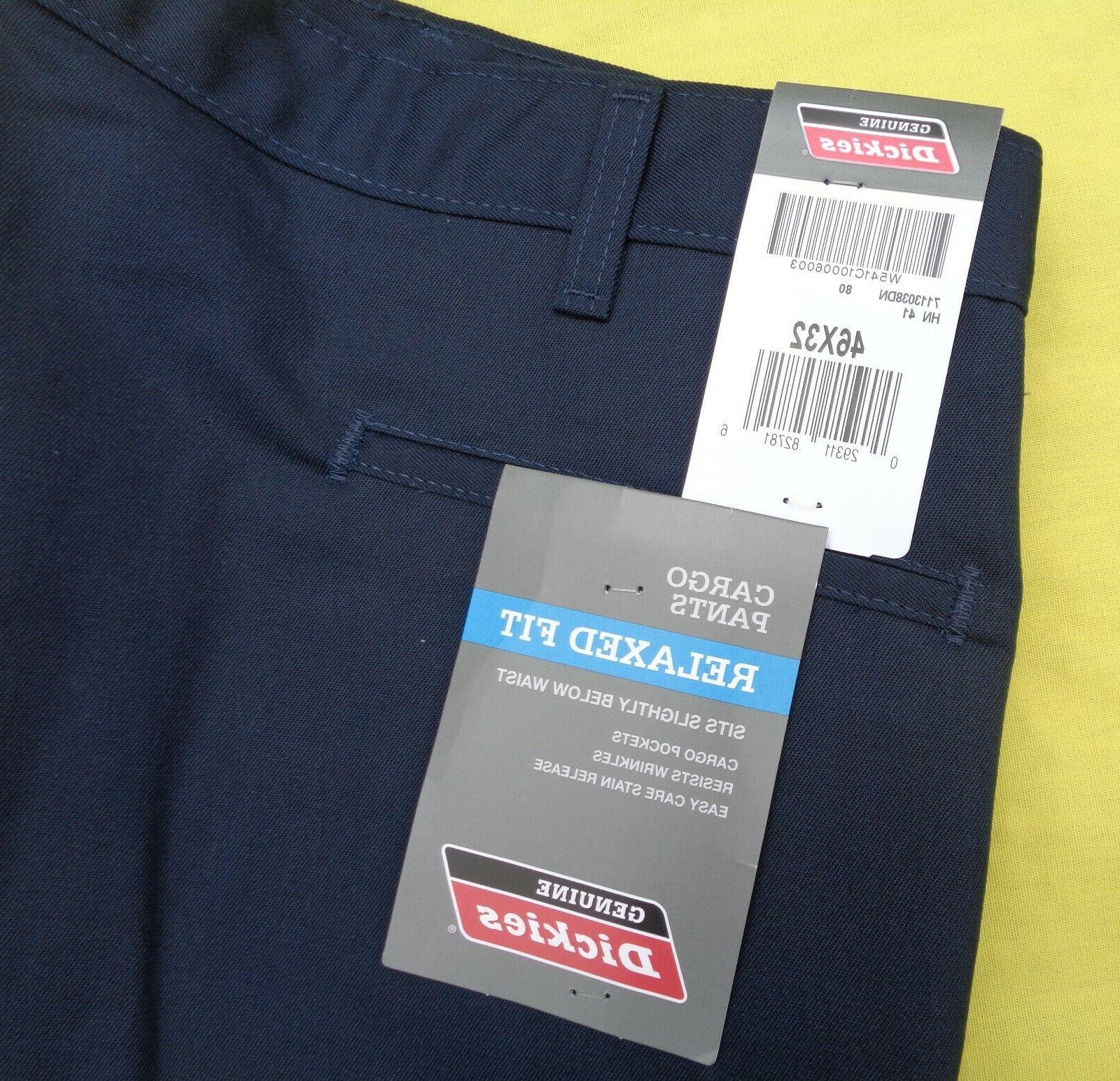 DICKIES HN41 Work Navy Uniform Relaxed Fit x 32