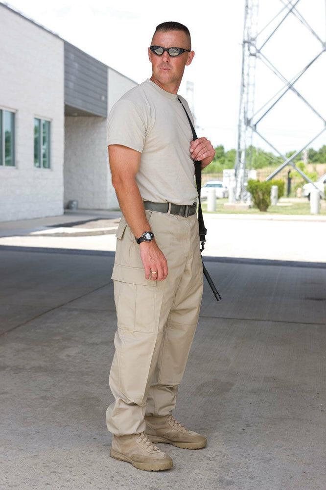 Khaki Pants Tactical Military Style Rip Stop F5201