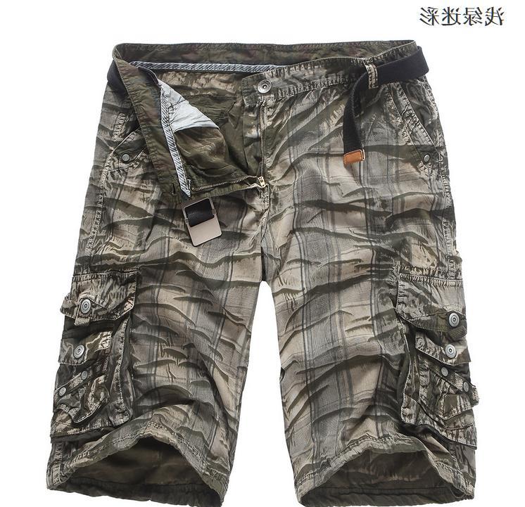 Korean Camouflage Men's Loose Cargo Shorts