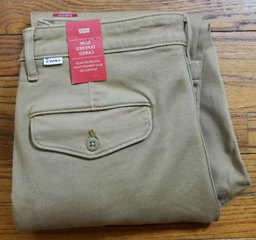 LEVI'S Men's Khaki Tan Slim Tapered NWT $69.50
