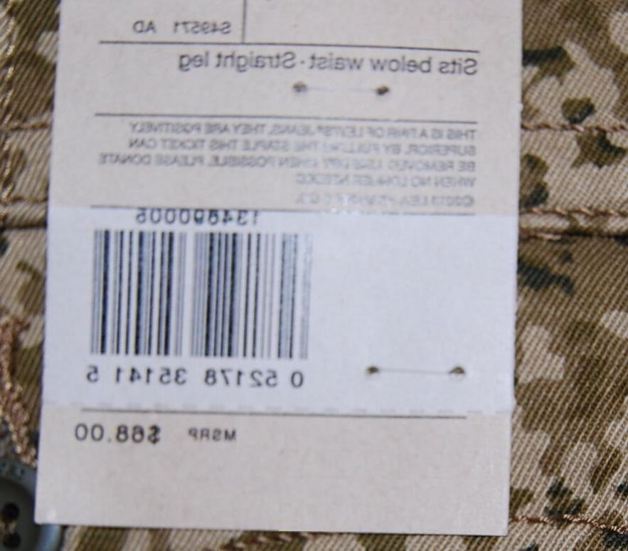 Levi's slim cargo jeans 38/32