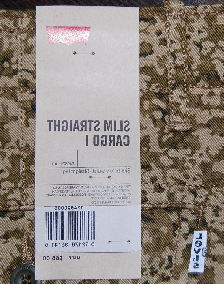 Levi's men's slim cargo pants camouflage $68 38/32