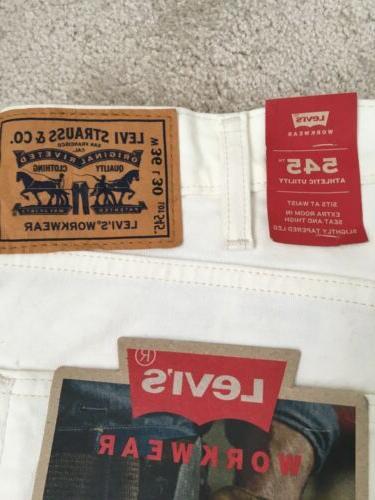 Levis 505 Jeans Mens Size White Denim