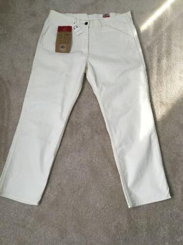 Levis 505 Jeans Mens White Denim