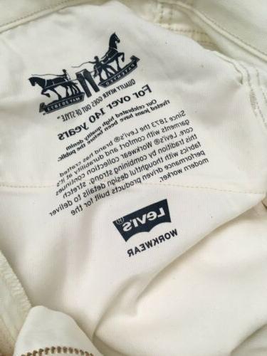 Levis 505 Jeans Size 36x30 White