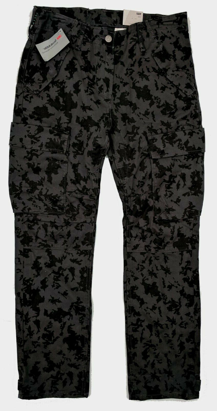 Levis Slim Cargo Pants Men's Camo Reflective #0012