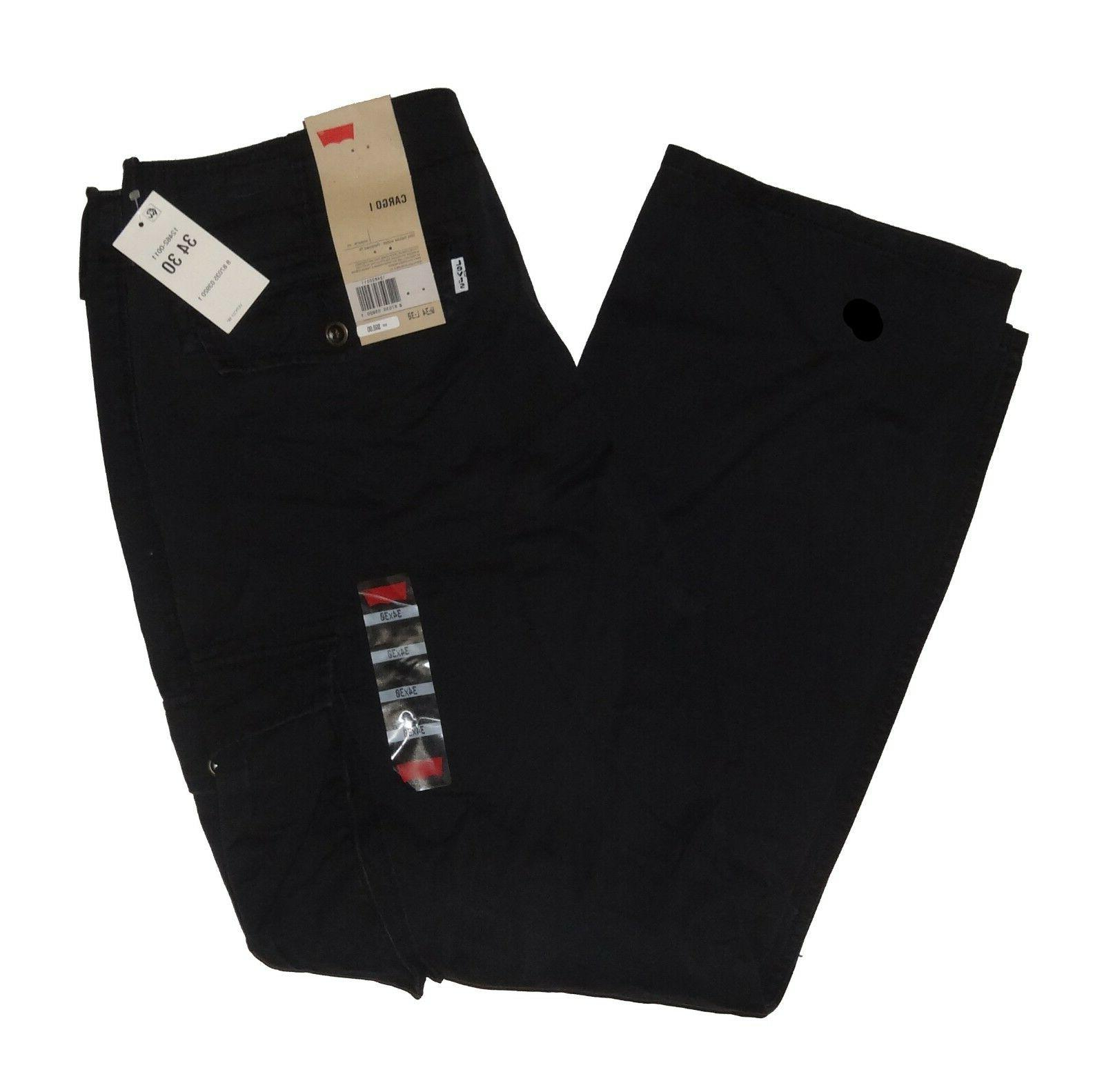 Levis Relaxed Cargo Beige Black 32 33 38 40