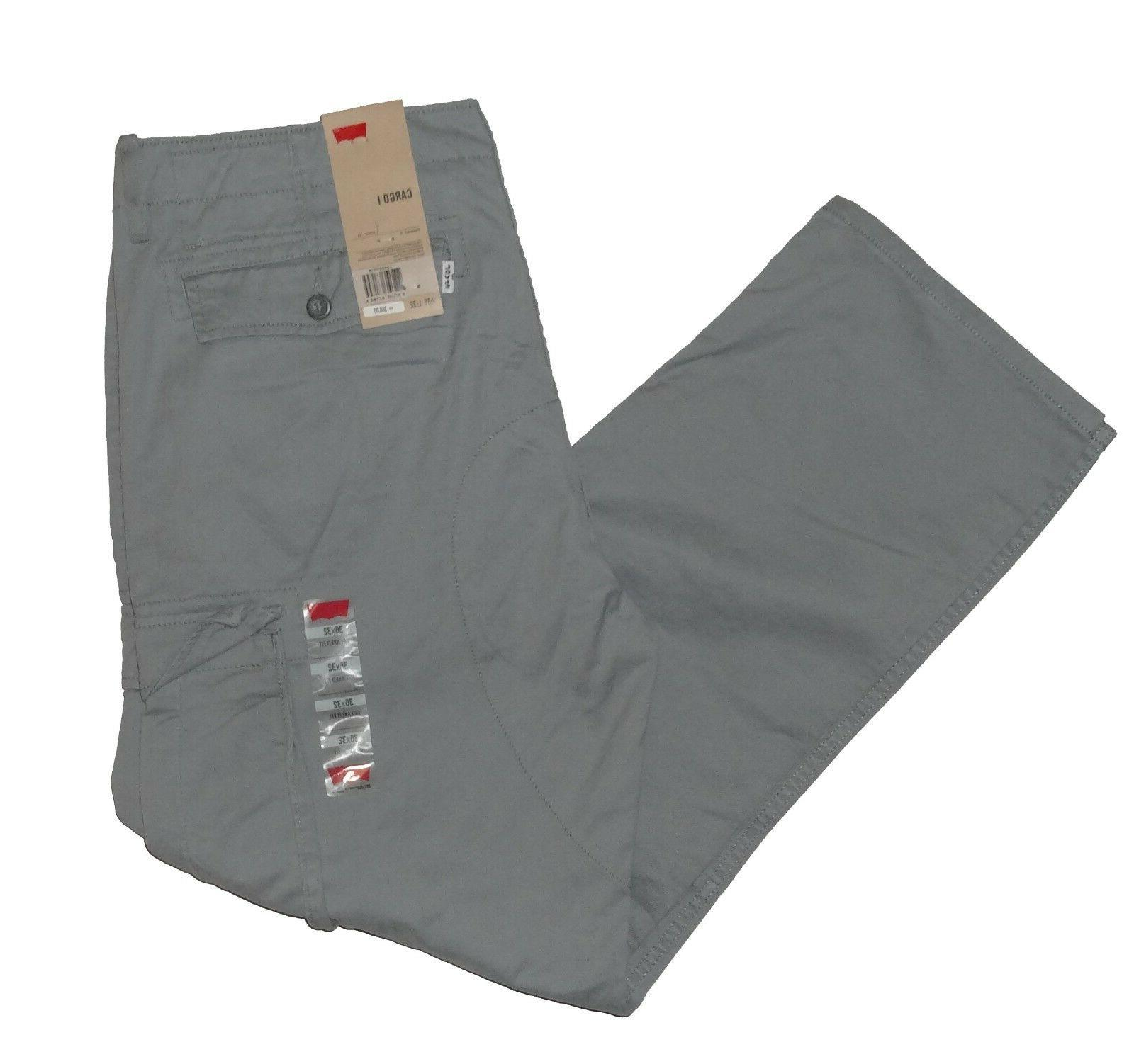 Levis Relaxed Cargo Pants Black Grey 38