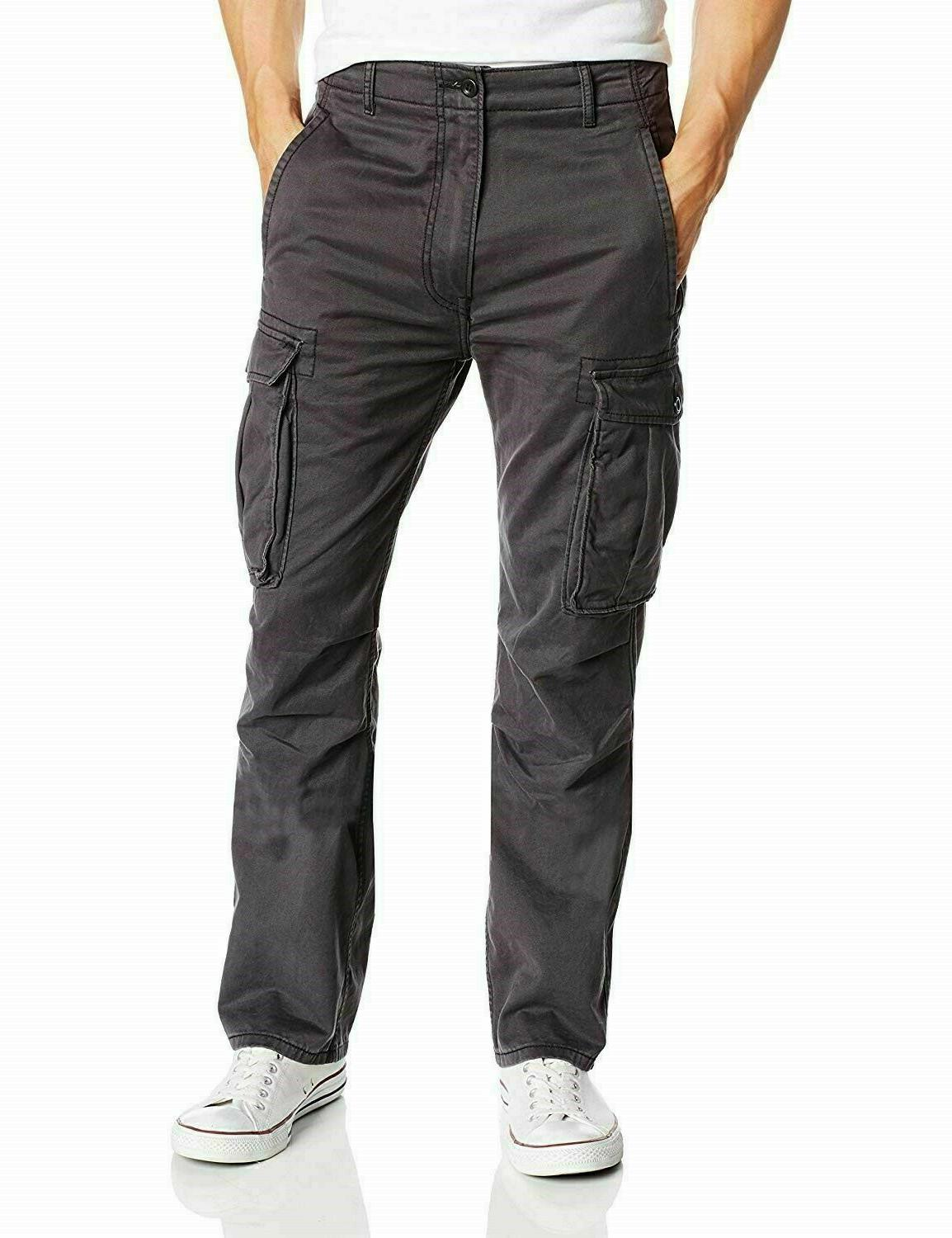 levis relaxed fit ace cargo pants charcoal
