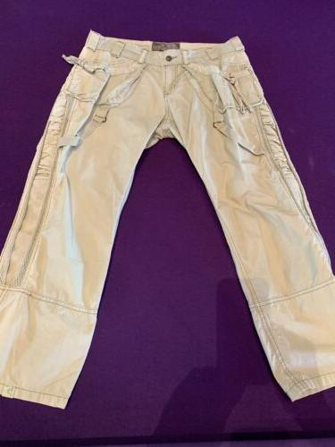 light green neutral cargo cutie pants size