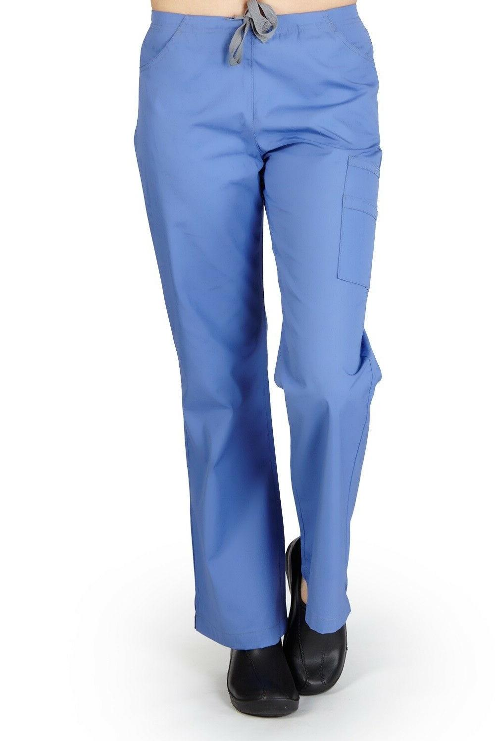 M&M SCRUBS Two Tone,Two Front Pocket With 2 Cargo Pocket Fla