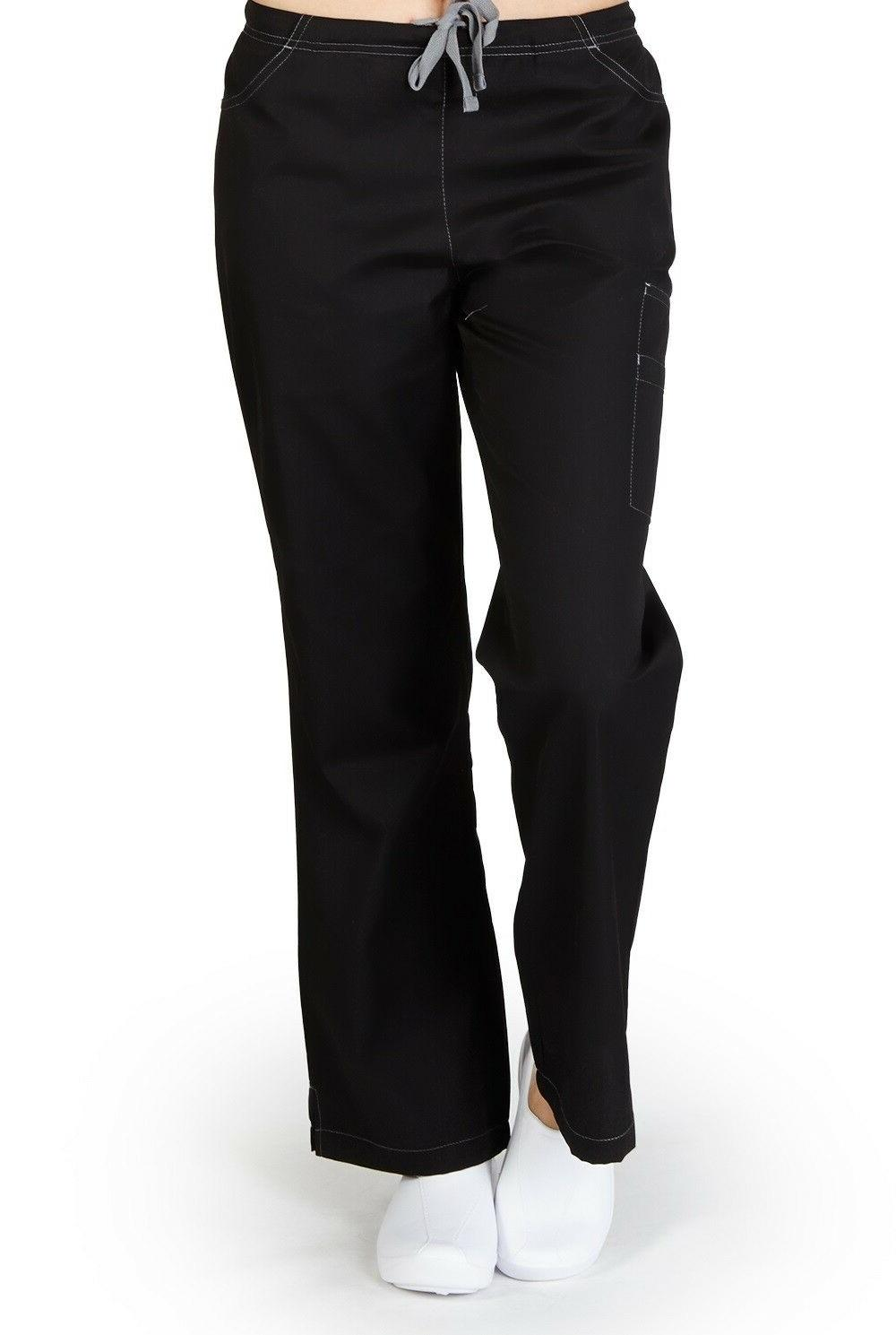 M&M SCRUBS Two Tone, Two Front Pocket With 2 Cargo Pocket Fl