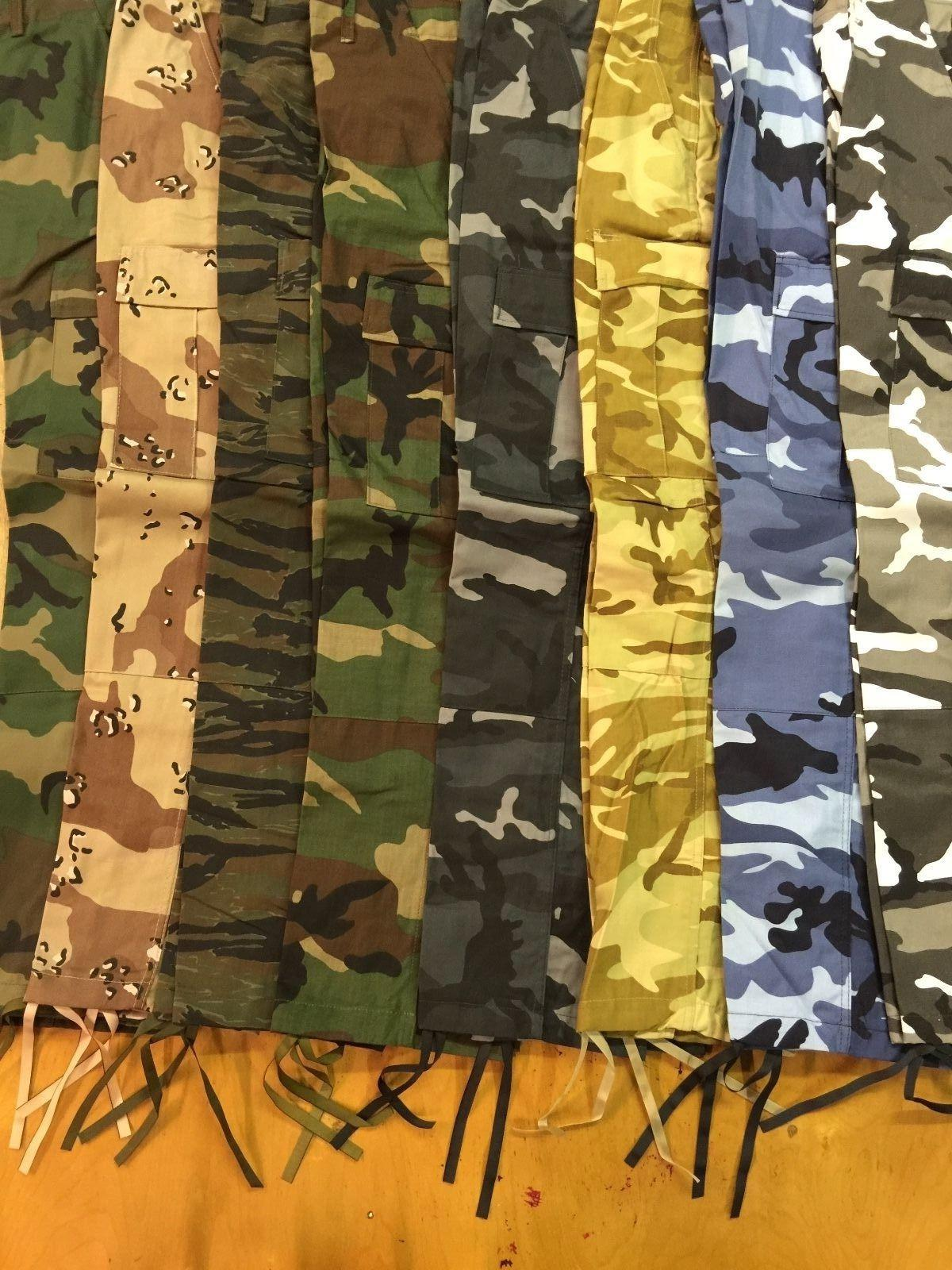 MADE IN BDU CAMO MILITARY UNIFORM WORK SAFET