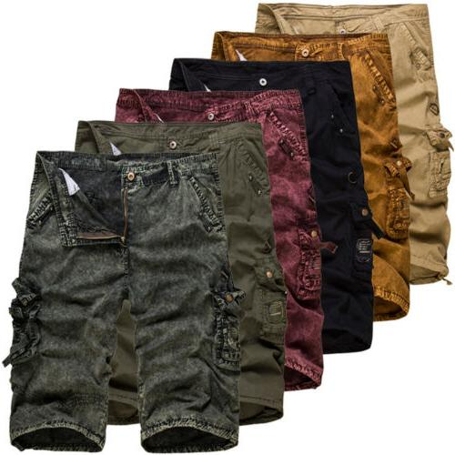 Mens Cargo Pants Trousers Casual Work Military Camo Army