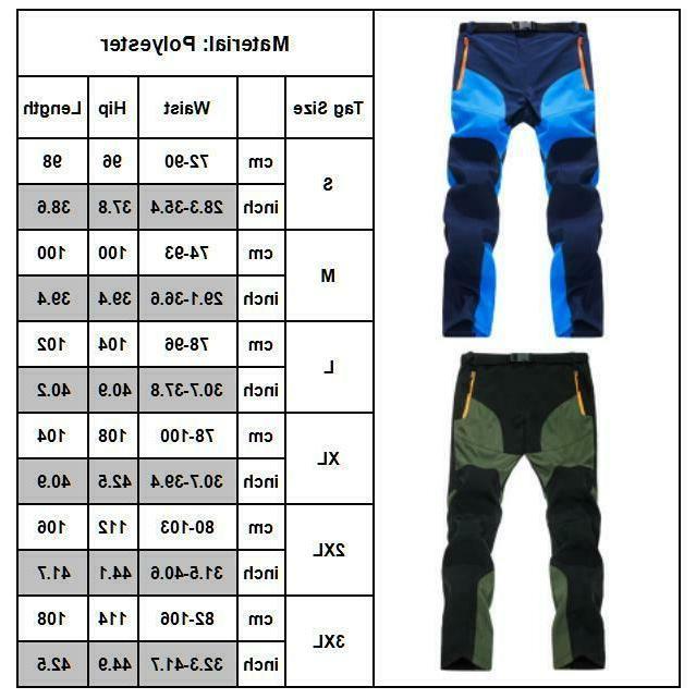 Men Casual Hiking Cargo Work Long Trouser