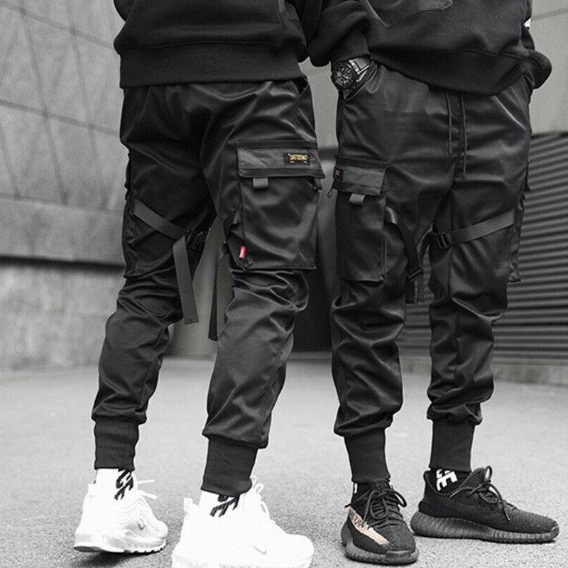 men casual streetwear joggers cargo pants sweatpants