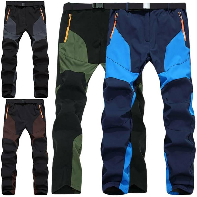 Mens Outdoor Camping Trousers Tactical Cargo Combat Work Hik