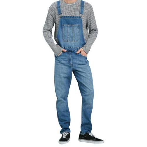 Men Denim Jumpsuit Bib