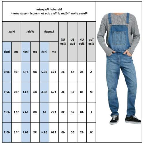 Men Cargo Bib Trousers