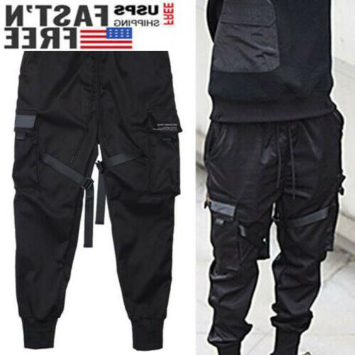 Men Tactical Cargo Harem Pants Joggers Street
