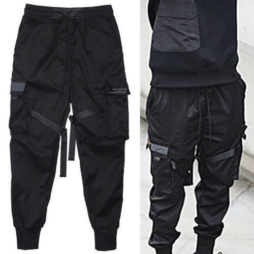 Men Fashion Cargo Harem Joggers Street Hip Trousers