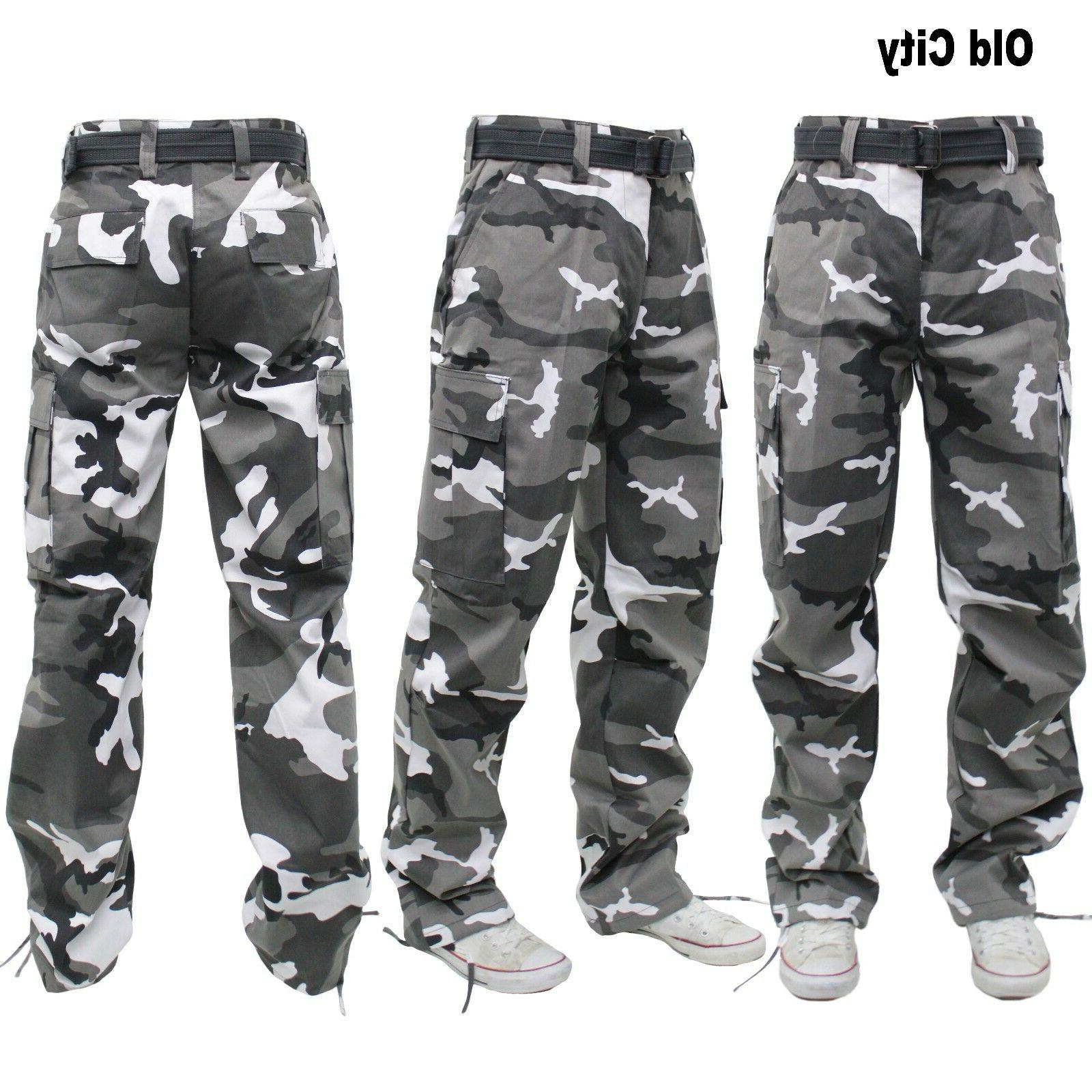 BIG AND MILITARY CAMOUFLAGE CARGO COMBAT PANTS