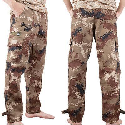 Men Cargo Pants Camo Casual Workout Loose 4 Pocket