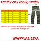 men quick dry pants hiking cargo convert