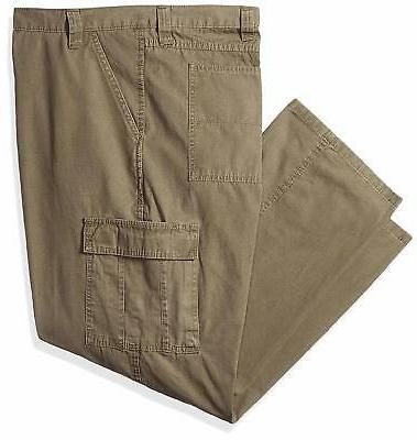 Wrangler Men's Big and Tall Classic Twill Relaxed Fit Cargo