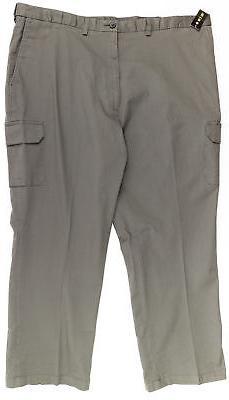 HAGGAR Men's Big & Tall Comfort Cargo Pants