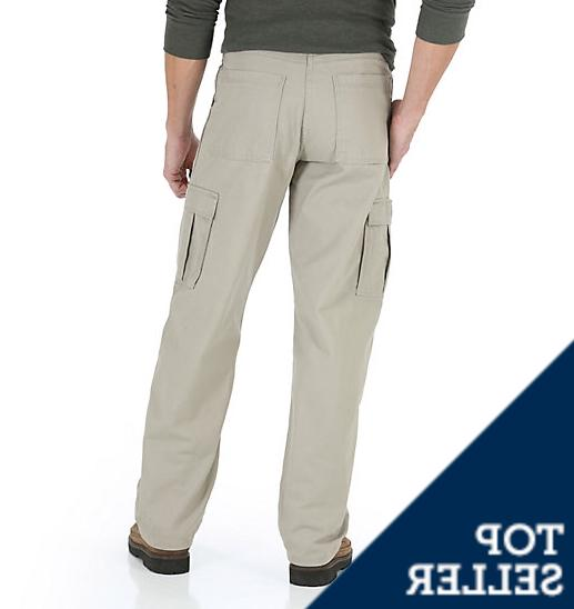 Men's Khaki Cargo Relaxed Fit Pocket 46,