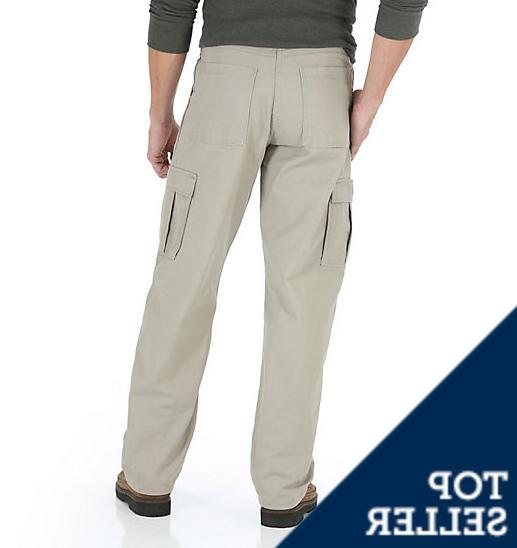 Men's Khaki Cargo Relaxed Fit Pocket 46,