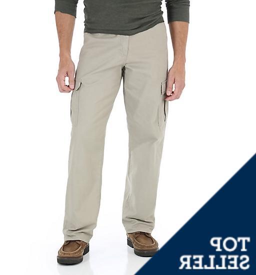 men s big man khaki cargo pants