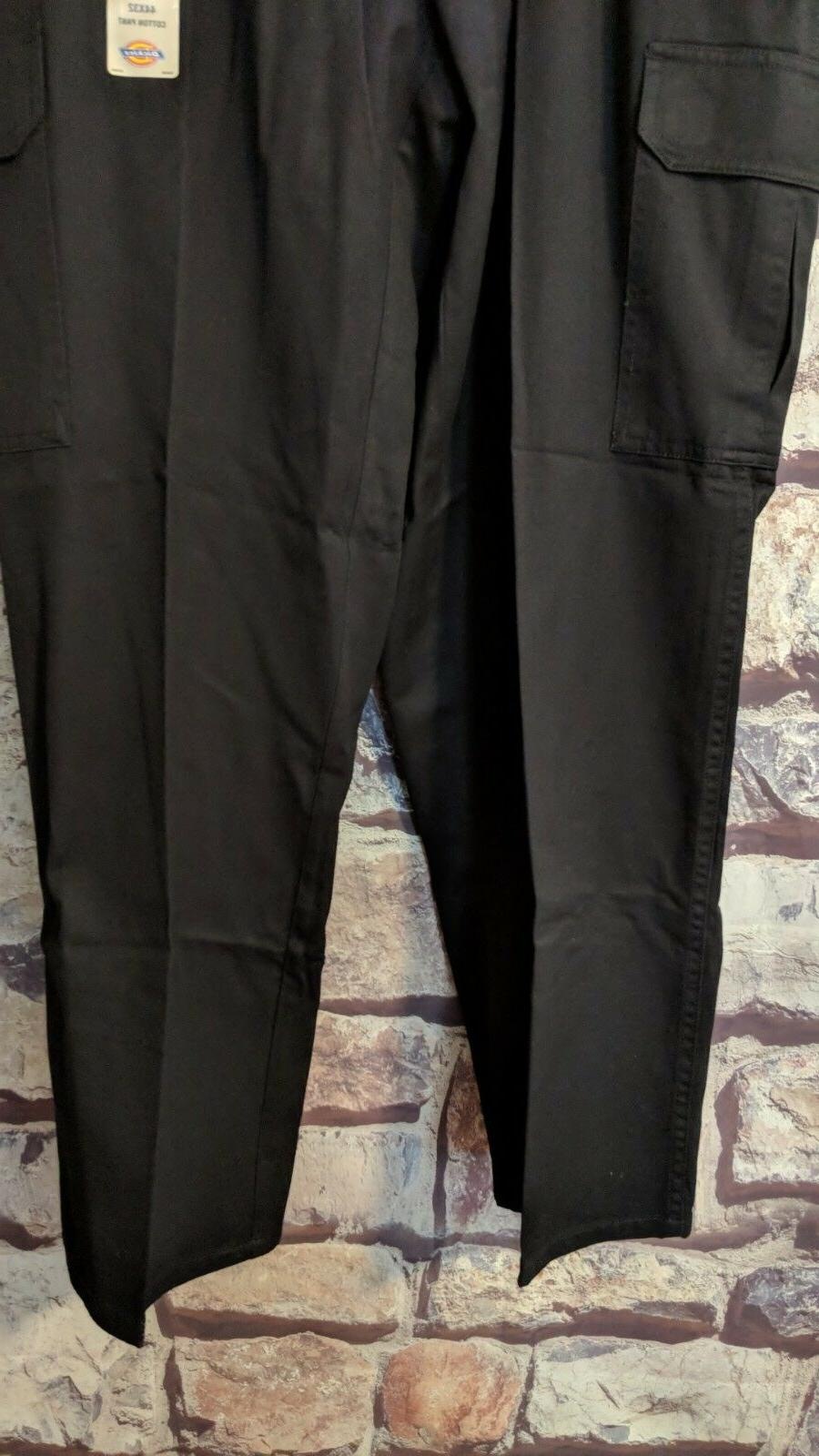 MEN'S DICKIES BLACK FIT COTTON SIZE NWT FREE SHIP
