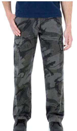 Men's Wrangler Black Camo Legacy Cargo Pants Relaxed Fit Str