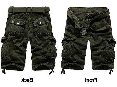 Men's Cargo Shorts Camo Pants Casual