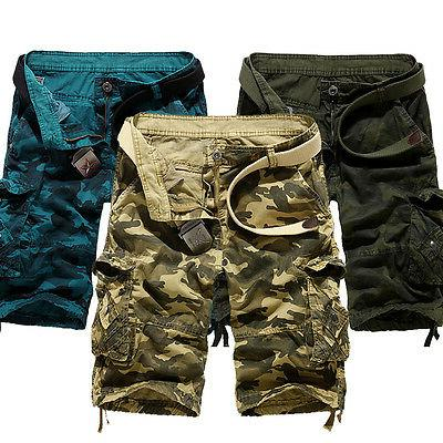 Men's Shorts Military Camo Casual Work Bottoms