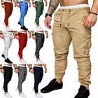Men's Cargo Sport Long Pants Casual Straight Leg Slim Fit Tr