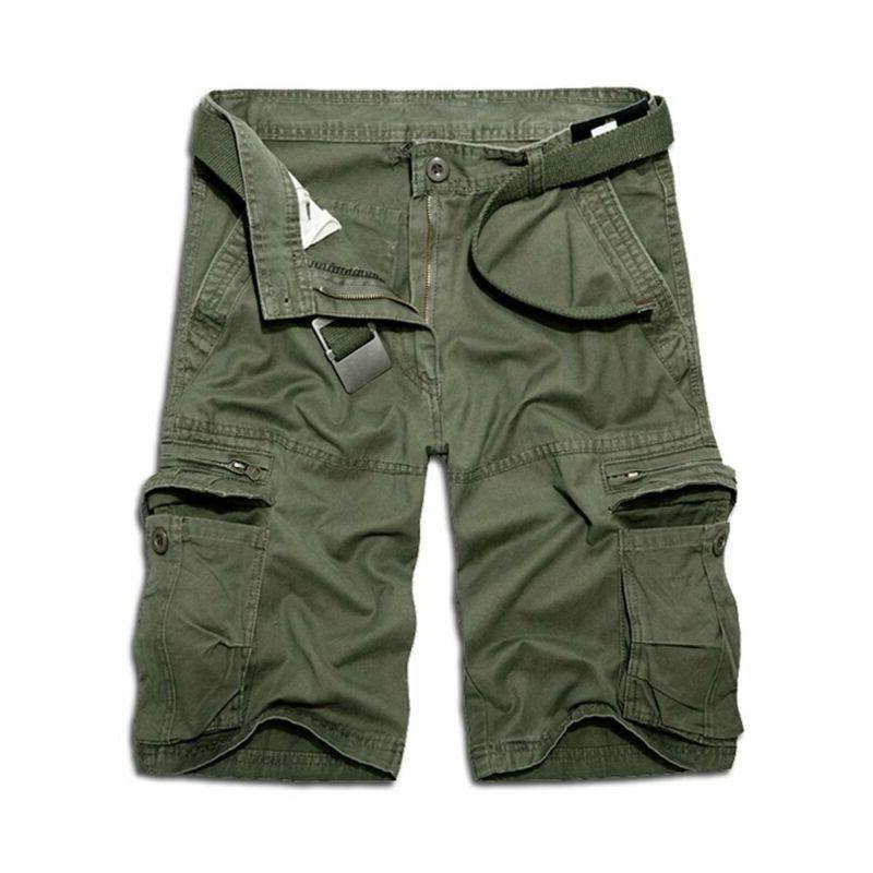 Ochenta Men'S Casual Cargo Pockets Outdoor Work Shorts